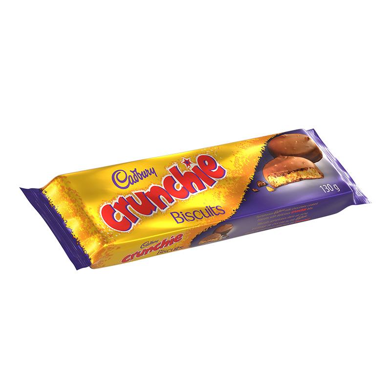 Cadbury Crunchie Biscuits Skillet 130g 3D Render