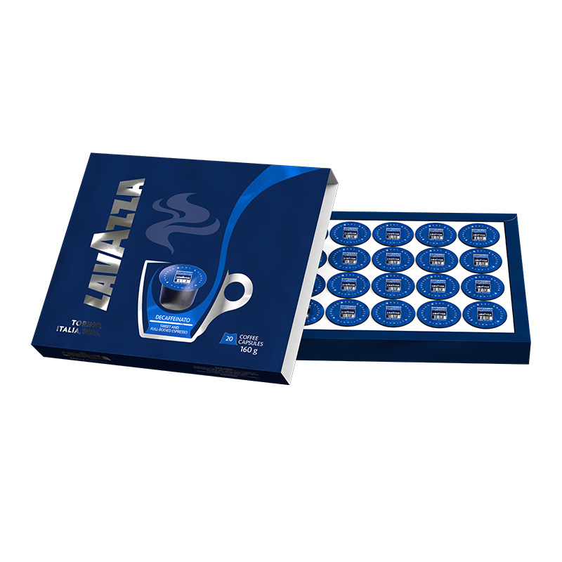Lavazza Coffee Pods Blue Multipack Box 3D Pack Shot